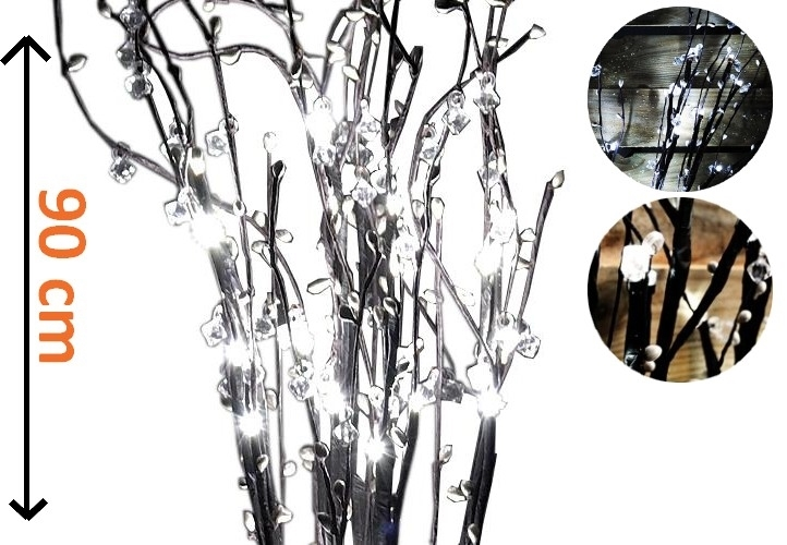 Větvičky LED s kamínky - 18000119