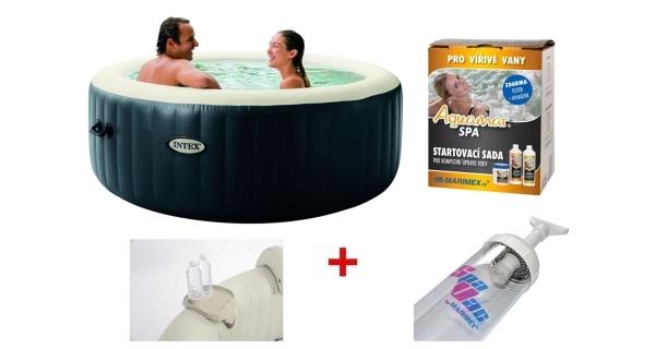 Vířivý bazén Pure Spa Plus + sada chemie + bazénový vysavač