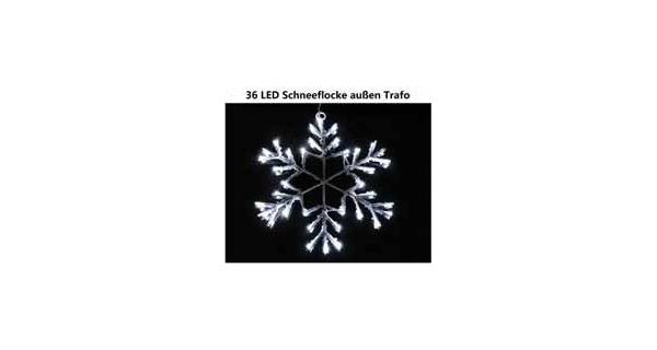 Vločka sněhová - 36 LED - studená bílá
