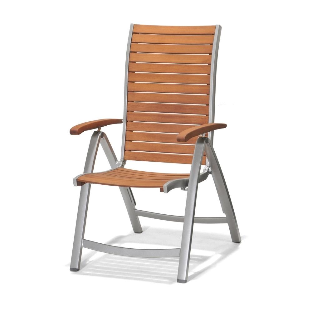 Marimex Zahradní křeslo polohovatelné - hliník/dřevo - 11640227