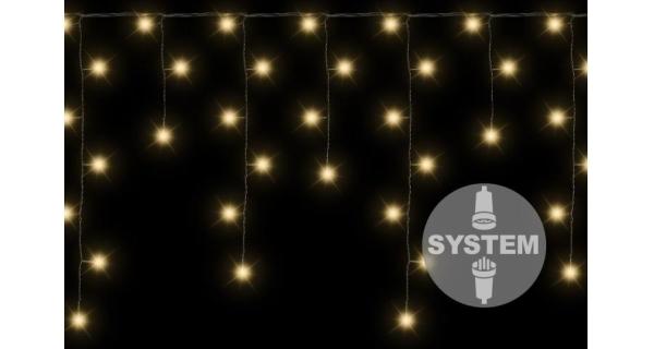Závěs světelný dvojitý - 80 LED - teplá bílá